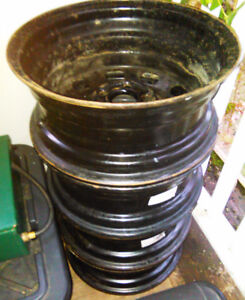 """Steel Rims: 4 X 15"""" with 5x100mm bolt pattern"""