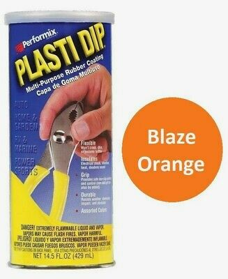 Blaze Orange 14.5oz Performix PLASTI DIP Plastic Rubber Grip Coating Handle Performix Plasti Dip