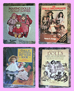 Lot of 4 Doll Clothes Making Books