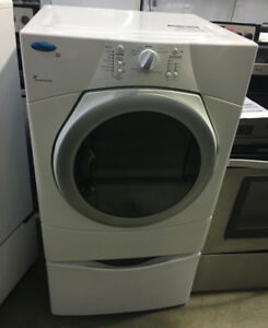 Whirlpool dryer on pedestal PRICE $499