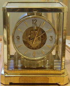 1966 VINTAGE LE COULTRE 528-8 ATMOS CLOCK JUST IN FROM SERVICING