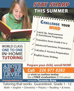 """Above Grade Level"" London,  In-Home Tutoring London Ontario image 5"
