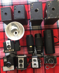 Assorted Vintage Cameras and lenses