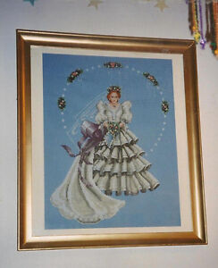 Framed Wedding cross stitch picture
