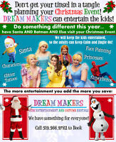 Santa Claus and Elves for a Home Visit, Christmas Party or Event