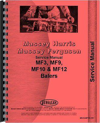 Massey Ferguson Service Manual Mf3 Mf9 Mf10 Mf12 Baler Mh-s-mf3910