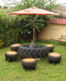 Potential Garden Table/ Planter / Raised Bed Tractor Tyre!