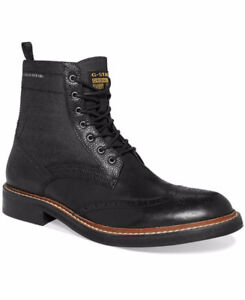 Mens G Star raw dress boots leather