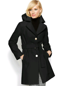 Michael Kors Black Wool Coat Brand New