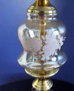 Brass Plated Crystal Glass Lamp Cambridge Kitchener Area image 5