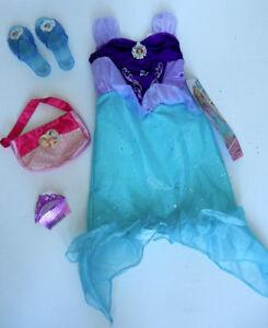 New - Disney Princess Ariel Dress with Shoes, Purse and Tiara