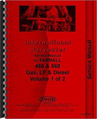 Ih International Service Manual Farmall 460 560 Gas Lp Diesel Ih-s-460560