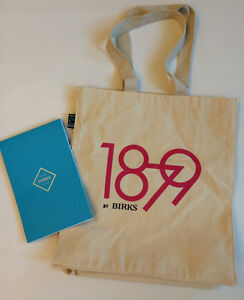 Authentic BRAND NEW BIRKS 1879 Canvas Tote Bag + Notepad