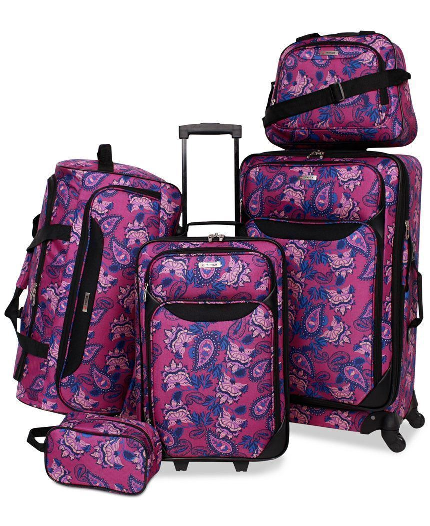 Tag Springfield Iii Printed 5-Pc. Luggage Set, Only at Macy'