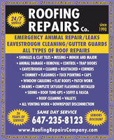 Roof Repair- Same Day Service 647-235-8123