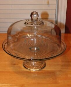 GLASS CAKE DOME & TRIFLE DISH