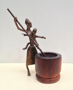 Small African Bronze Sculpture $60.