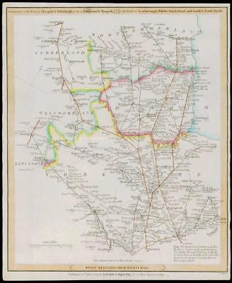 1806 Antique Road Map - YORKSHIRE DURHAM NORTHUMBERLAND Laurie & Whittle