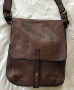 Tumi Brown Leather Messenger Bag