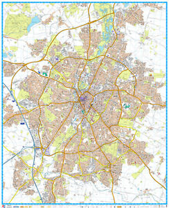 A - Z STREET MAP OF LEICESTER - FLAT MAP - LEICESTER STREET MAP.  PAPER MAP.