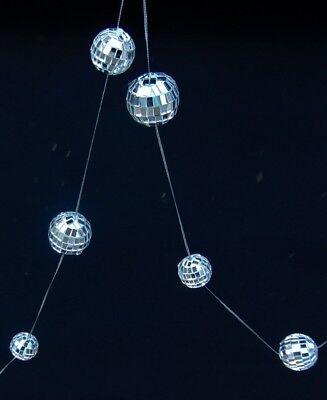 5-foot Garland 12 Mirror DISCO Balls 3/4