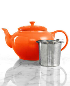 Le Creuset Teapot Stainless Steel Infuser Flame