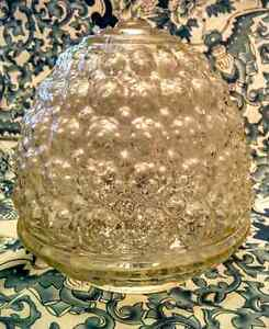 1970s Bubble Glass Acorn Shade Reclaimed Architectural