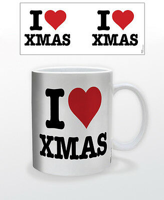 CHRISTMAS-I HEART XMAS 11 OZ COFFEE MUG HOLIDAY CHRISTIAN CELEBRATION FESTIVAL!!