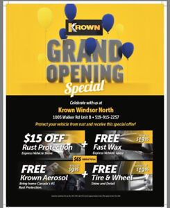 Krown Rust Control WINDSOR NORTH Grand Opening Special!