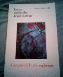 Revue québécoise de psychologie : Schizophrénie (2008)