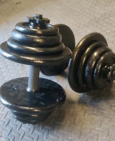 Set of 50KG dumbbells (25kg each)
