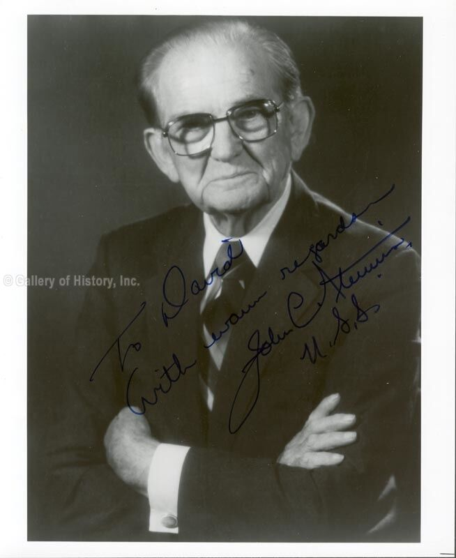 JOHN C. STENNIS - INSCRIBED PHOTOGRAPH SIGNED