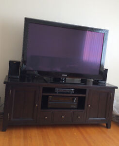 2 Bookcases Solid Wood & TV cabinet