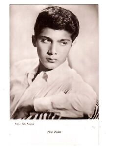 carte postale photo du chanteur Paul Anka