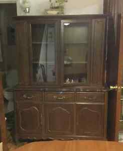 China cabinet, table and 4 chairs