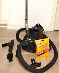 Dirt Devil canister bagged vacuum cleaner + new extra bag.