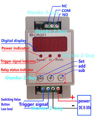Dc 12v 24v Digital Led Cycle Loop Delay On Off Trigger Switch Timer Relay Module