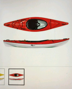 Lightly Used Red & White Riot Kayak w/ accessories