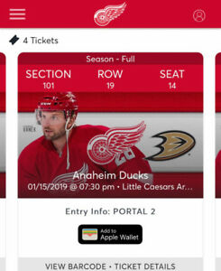Anaheim Ducks @ Detroit Red Wings Jan15 730little ceasers arena
