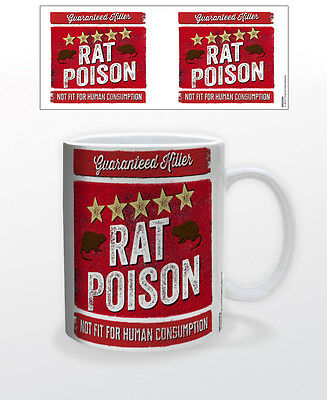 5 STAR RAT POISON 11 OZ COFFEE MUG TEA CUP FYNNY COOL HOME DECOR RODENTS ANIMAL  ()