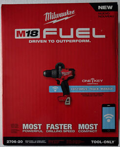 """New Milwaukee M18 FUEL 1/2"""" ONE-KEY Hammer Drill (Tool Only)"""