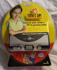 TIME'S UP VIDEO GAME TIMER CONTROL YOUR CHILD'S TV & GAMING TIME