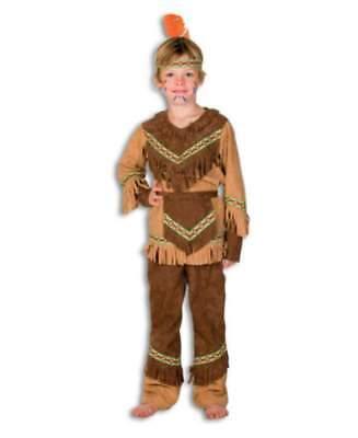 Indianer Kinder Junge Wilder Westen Kostüm Anzug Indianerkostüm (Kinder Indianer Junge Kostüm)