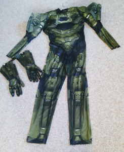 New Adult Halo Master Chief Deluxe costume with matching gloves