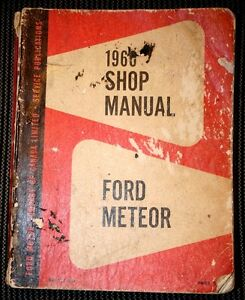 1960 Ford and Meteor Manual OEM