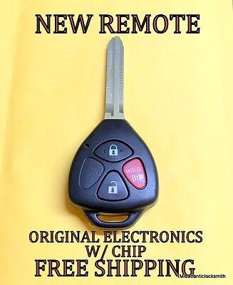 New Uncut Toyota Rav4 Rhk Keyless Remote Head Fob Transmitter Hyq12bby Dot Chip