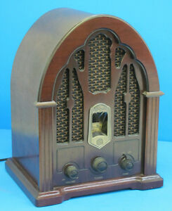 GE working Replica Cathedral Radio