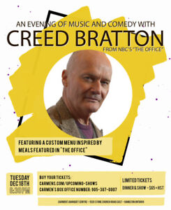 An Evening of Music & Comedy with Creed Bratton from the Office!
