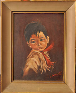 Native Children oil paintings - L. Zwieschke