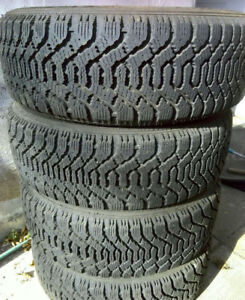 Set of four Goodyear Nordic winter tires - P195/55R15